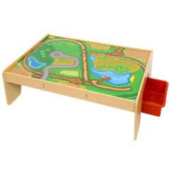 Bigjigs Rail BJT041 Train Table with Pull Out Drawers