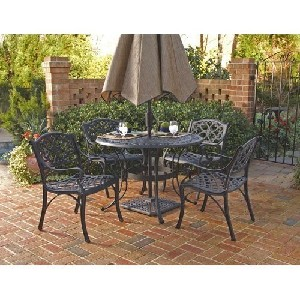 Biscayne 5 Piece Round Outdoor Dining Set