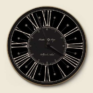 Black Architectural Wall Clock