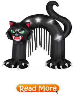 Black Cat Archway Outdoor Decoration
