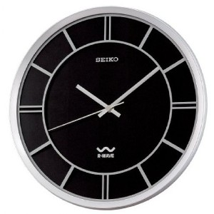 Black Seiko R Wave Wall Clock