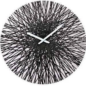 koziol black silk wall clock
