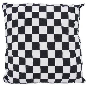 Black White Checkerboard Fleece Throw Pillow