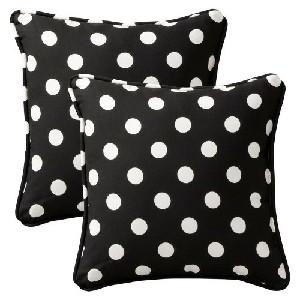 Black and White Polka Dot Throw Pillows