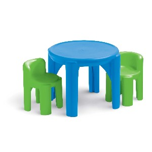 Bold n Bright Plastic Table and Chairs Set