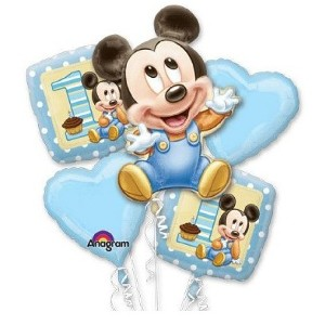 Bouquet of 5 Baby Mickey Balloons
