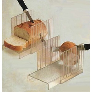 clear bread and bagel slicer guide