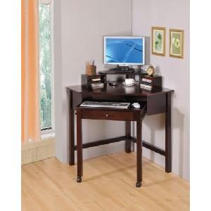 Cappuccino Wood Corner Computer Desk