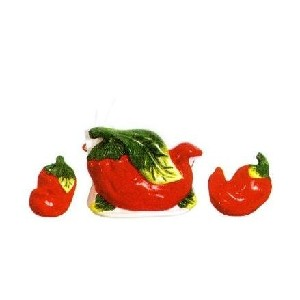 Chili Pepper 3-D Napkin Holder Set