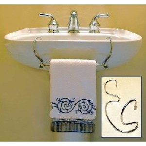TowelTender Chrome Over the Sink Towel Rack