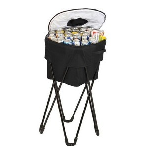 collapsible barrel ice tub with stand