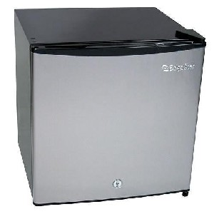 Compact Freezer Refrigerator with Lock - Stainless Steel