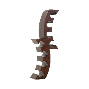 Cresent Wood Wall Mount Wine Rack