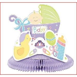 Deluxe Honeycomb Baby Nursery Shower Centerpiece