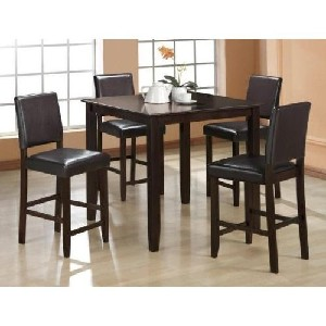 5 Pc Derick Counter Height Table and 4 Stools Set