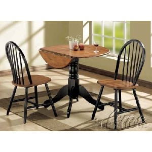 Dining Table u0026 Chairs Set with Drop Leaf in Oak and Black Finish  sc 1 st  Stones Finds & Drop Leaf Table Set u2022 Stones Finds