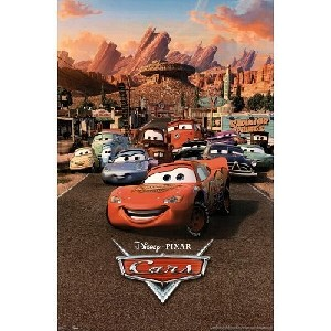 Disney Pixar Cars Movie Poster