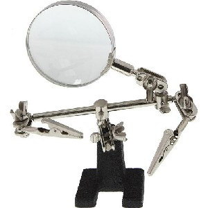 Dual Helping Hands Magnifying Glass