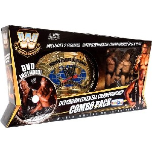 Exclusive Wrestling Championship Combo Pack Includes The Rock Stone Cold Steve Austin Action Figures