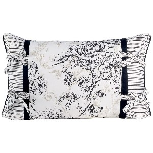 Floral Toile 22 Inch by 14 Inch Oblong Pillow