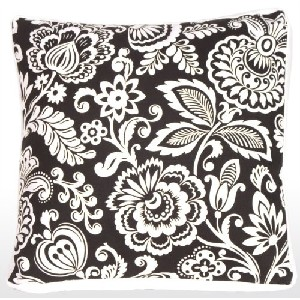 Flower Power with Box Edge Accent Pillow