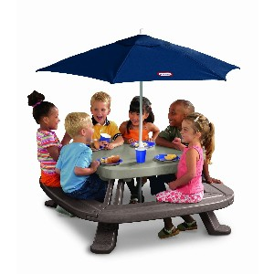 Fold n Store Play Table with Market Umbrella