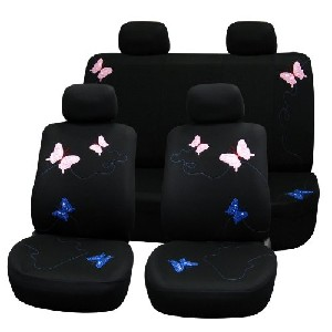 Full Set Black with Butterfly Embroidery