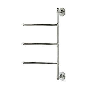 Gatco 1459 3 Arm Wall Mount Towel Bar, Chrome for Small Baths
