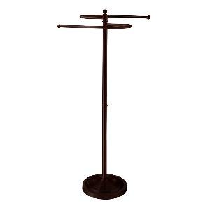 Gatco 1508 Floor Standing S Style Towel Holder, Bronze