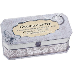 Granddaughter Petite Periwinkle You are my Sunshine Jewelry Music Box