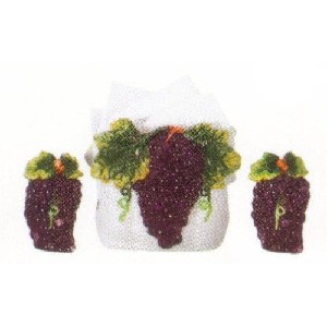 Grape Themed Napkin Holder and Salt, Pepper Shakers