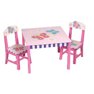 Guidecraft Butterfly Table and Chair Set