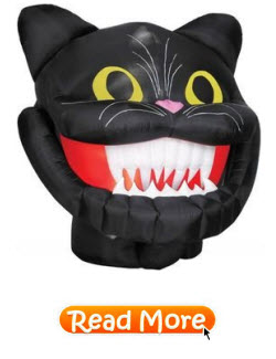 Halloween Black Cat Head