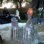 Halloween Foggy Cemetery Display