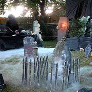 Halloween Foggy Cemetery Display