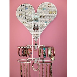 Heart Jewelry Organizer in White