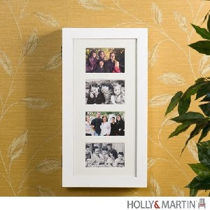 Holly & Martin? Stella Photo Display Wall-Mount Jewelry Armoire-White