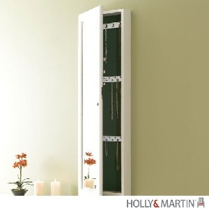 Holly & MartinTM Sophia Wall-Mount Jewelry Mirror-Frosty White