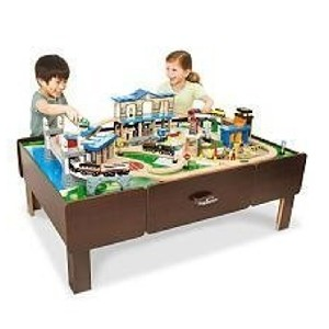 Imaginarium City Central Train Table with Drawers