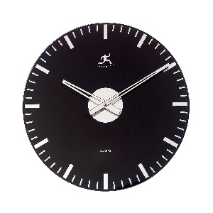 Infinity Instruments Black Glass Wall Clock