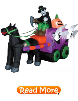 Inflatable Halloween Wild Stage Coach