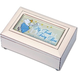 Ivory Tooth Fairy Music Box Plays You Are My Sunshine