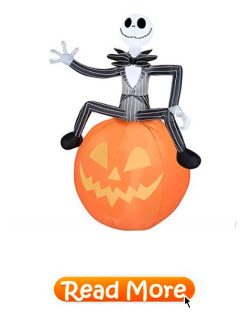 Jack Skellington and Pumpkin Airblown Decoration