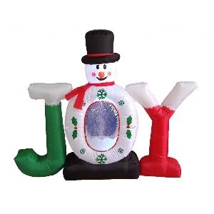 Inflatable Joy Snowman Snow Globe Yard Decoration