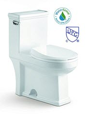 Julius cUPC Watersense Low Flush Modern European Italian One Piece Toilet