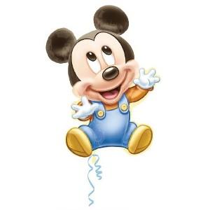 Jumbo Baby Mickey Mouse Mylar Balloon