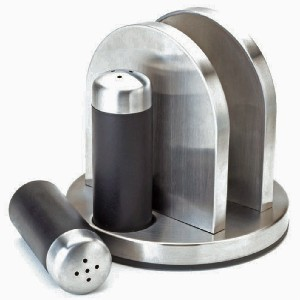 Kamenstein Napkin Holder with Salt And Pepper Caddy