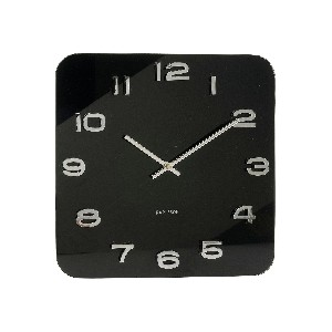 Karlsson Square Wall Clock Vintage Glass