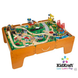 Kidkraft Waterfall Mountain Train Table Set with Pull Out Drawers