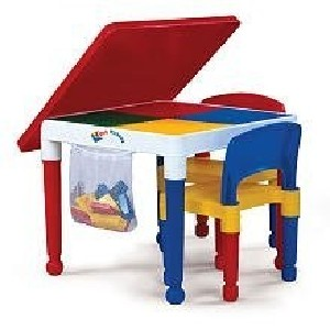 Kids Plastic Construction Table and Chairs